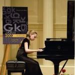Elizabeth Karnaukh performing at Carnegie Hall