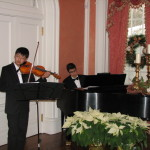 Governor's Mansion Holiday Celebration Concert 2012, Augustin Zavala (piano) & Ryan Zhang (violin) perform
