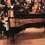 Joshua Suslak performing with Westminster Community Orchestra at Richardson Auditorium, Princeton University