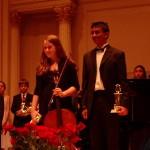 Julia Stewart and Rajeev Agarval at Carnegie Hall